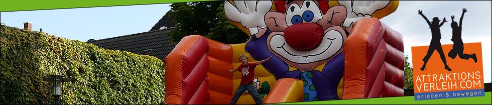Die große Clownsrutsche vom Attraktionsverleih